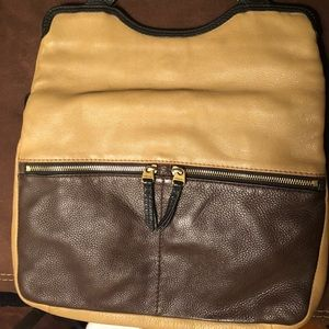 Fossil Leather bag tan & brown